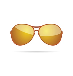 gold sunglasses classic color vector image