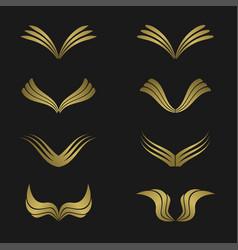 golden wing set vector image vector image