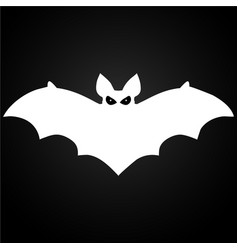 halloween flying white bat vector image