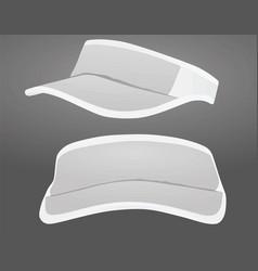 visor cap vector image vector image