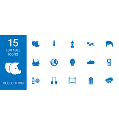15 collection icons vector