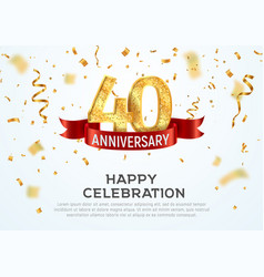 40 years anniversary banner template vector image
