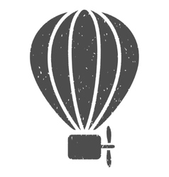 Aerostat Balloon Icon Rubber Stamp vector