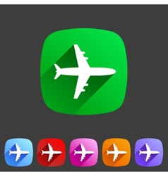 Airplane plane flat icon vector image