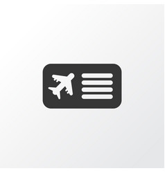 airplane ticket icon symbol premium quality vector image