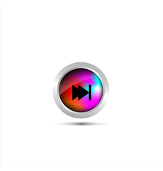 audio player buttos functions designs vector image
