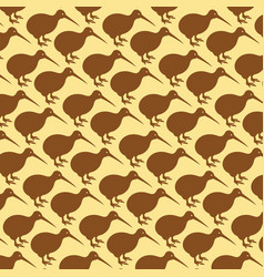 Background pattern with kiwi birds vector