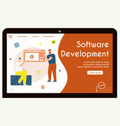 banner software development concept vector image