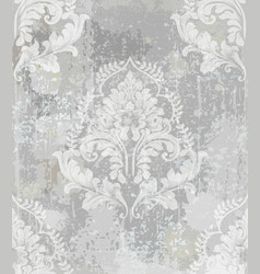baroque classic damask pattern ornament vector image