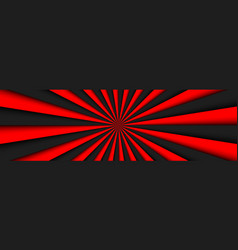 black and red abstract header black and red lines vector image