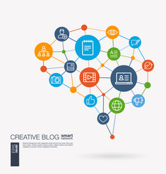 Blog video content publish post writing vector