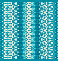 blue and white pattern for tiles and fabric vector image