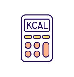 Calorie calculator rgb color icon vector
