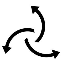 Centrifugal Arrows Flat Icon vector