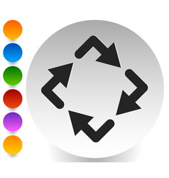 Circular arrows icon rotating arrows clockwise vector