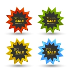 Colorful Big Sale tags vector image