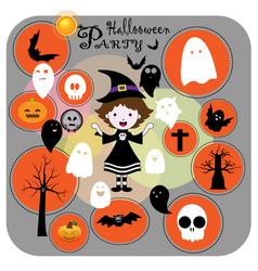 Cute halloween party vector