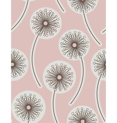 Dandelion seamless floral background vector
