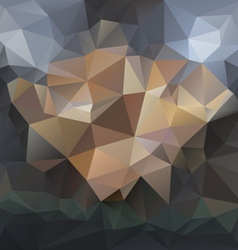 Dark black gray blue polygonal triangular pattern vector