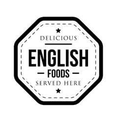 Delicious English Foods vintage stamp vector