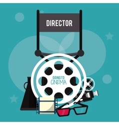 Director chair movie film cinema icon vector