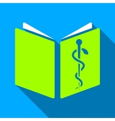 Drug Handbook Flat Long Shadow Square Icon vector