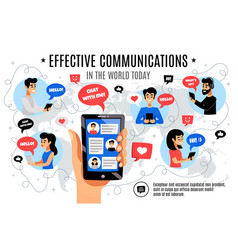 dynamic interactive electronic communication vector image