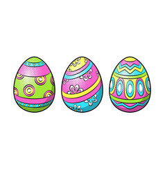 Easter eggs pop art vector