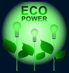 eco power sprouts vector image