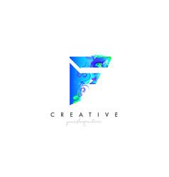 f letter icon design logo with creative artistic vector image
