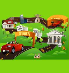 Financial roadmap vector