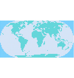 Flat world map atlas dot style vector