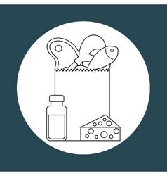 food nutrition design vector image