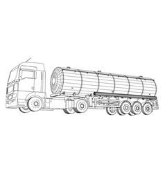 Fuel tanker truck tracing of 3d eps vector