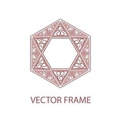 geometric linear style frame - art deco vector image
