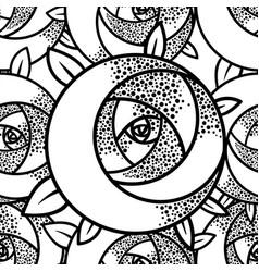 geometric rose flower seamless pattern art deco vector image