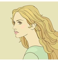 Hair girl vector