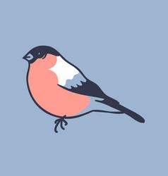 hand drawn winter bird creative ink vector image