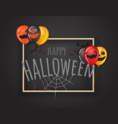 happy halloween greeting card halloween party vector image