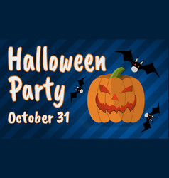 Happy halloween party greeting card happy vector