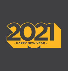 Happy new year 2021 shadow style vector
