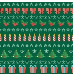 Happy New Year and Marry Christmas Seamless vector image