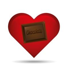 heart cartoon chocolate bar sweet icon design vector image