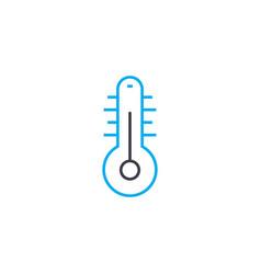 Home temperature linear icon concept home vector