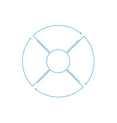 Infographic circle with arrows in linear style vector