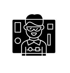 interface design black icon sign on vector image