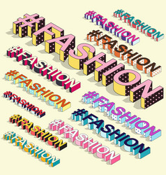 isometric hashtag - fashion internet blogging vector image
