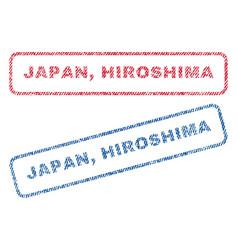 Japan hiroshima textile stamps vector