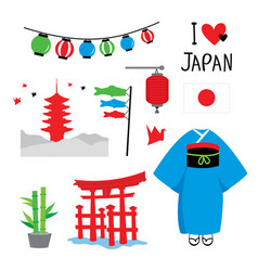 Japan tradition place travel asia cartoon vector