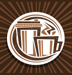 logo for coffee drink vector image